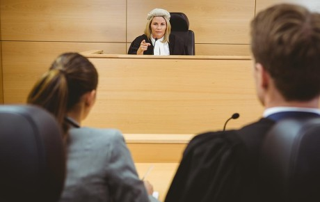 Hearing an appeal in court