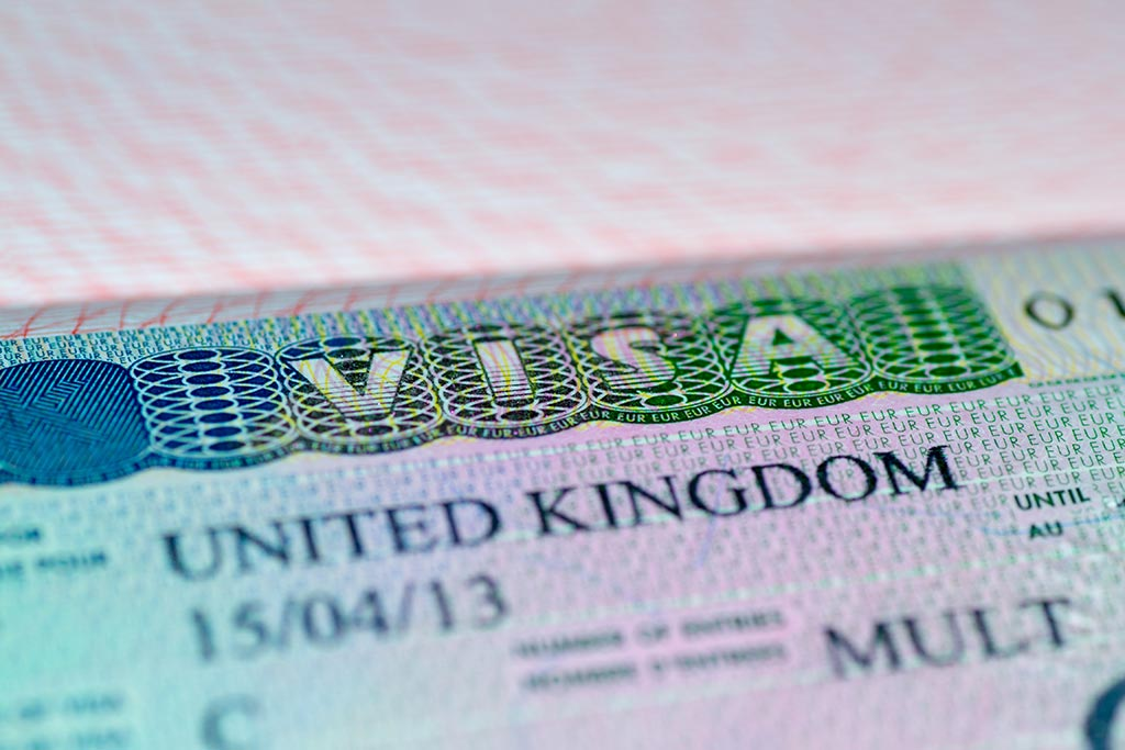 Visa in United Kingdom passport